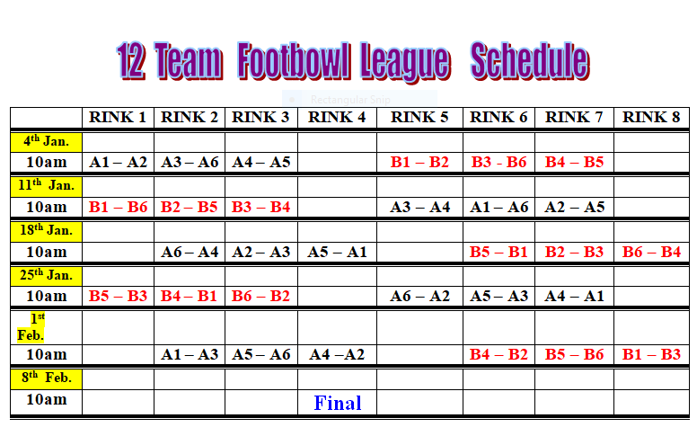 Footbowl Schedule